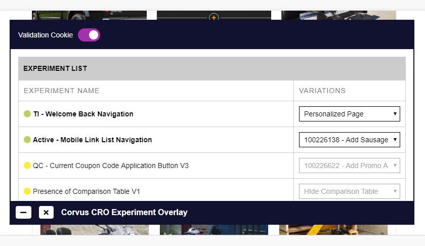 The Experiment Overlay can now trigger variation switches for experiments with delayed activation